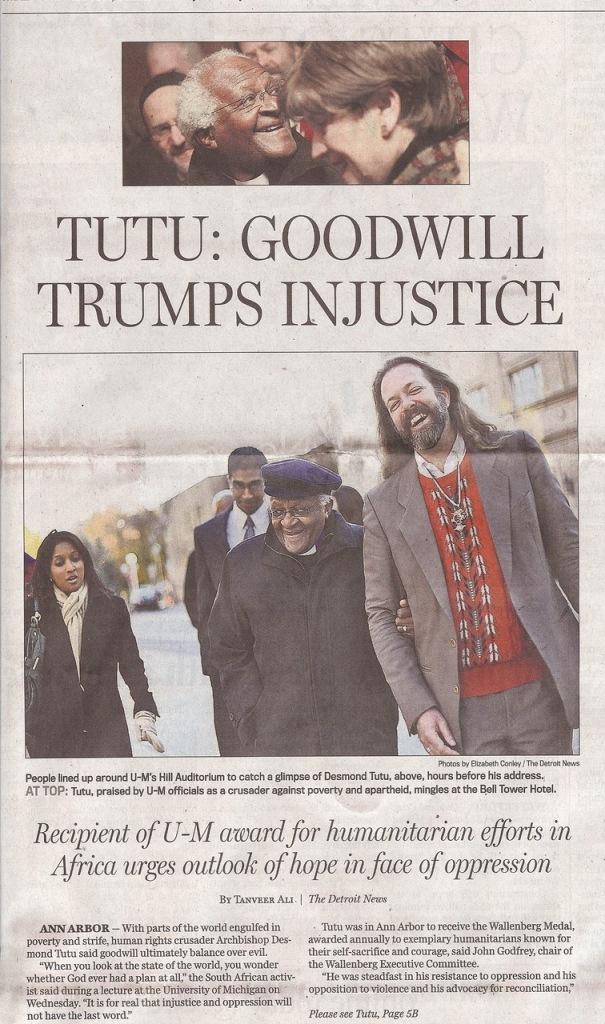 Desmond Tutu and A.T. Miller